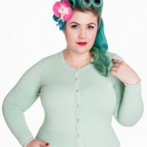Hell Bunny Mint Green Buttonup Rockabilly Cardigan